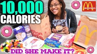 10,000 Calorie Challenge: Small Girl VS Food | EPIC CHEAT DAY