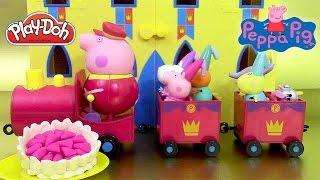 Train Royal de Papi Pig Grandpa et Princesse Peppa Pâte à modeler play doh