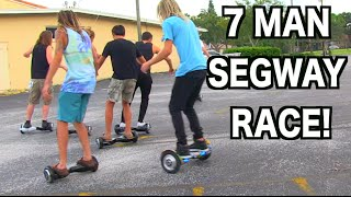 EXTREME 7 MAN SEGWAY RACES! (Hoverboard FAILS)