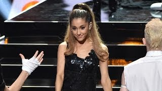 Ariana Grande Strips Down For iHeartRadio Music Awards Performance