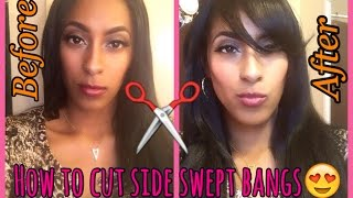 How to Cut Perfect Side Swept Bangs (at Home) Tutorial!