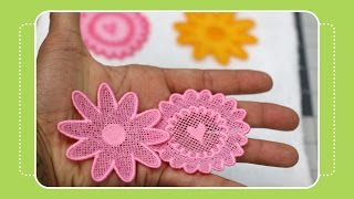 Beginner Machine Embroidery Project #2- Free standing lace tutorial