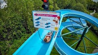 Tosselilla Sommarland - Vattenrutsch   170 m Long Water Slide Onride POV