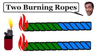 Two burning ropes - Brain Teaser