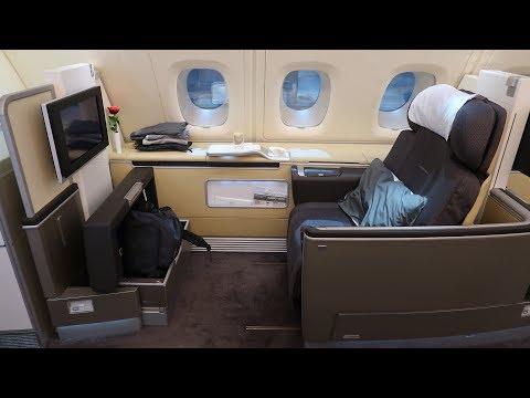 Lufthansa A380 First Class Frankfurt to Bangkok First Class Terminal