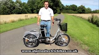 ebike - Unbelievably Easy to Mount Electric Trike Mobility Scooter 3 Wheeler