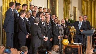 The 2014 NBA Champion San Antonio Spurs Visit the White House