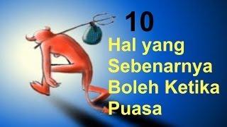 10 Hal ini Boleh Dilakukan Saat Puasa