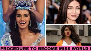 Want to become Miss World ? | Complete Procedure | Manushi Chhillar | Priyanka Chopra | Aishwarya