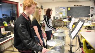 Chrisman High School Band Percussion Practice