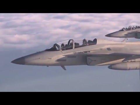 watch New PH fighter jets escort Aquino's plane from US trip