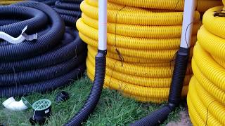 Two Residential Underground Downspout Systems Used by The French Drain Man