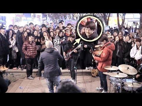 구� 하던 남학생 베이스 소름돋는 즉흥연주 라이브 BLSG밴드 홍대버스킹