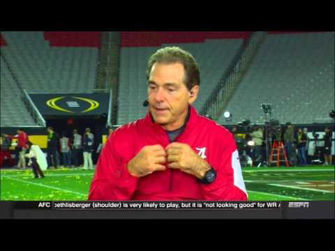 Nick Saban s SportsCenter interview after winning his 5th national title.