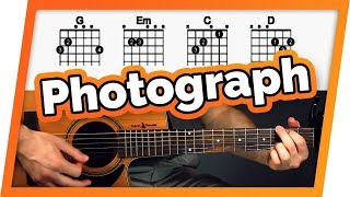 Photograph Guitar Tutorial (Lesson) - Easy Chords For Beginners