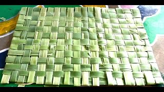 How to Make Mat with Palm Tree Leaves