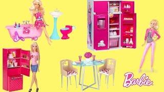 Barbie Fun Food Fridge Dreamhouse Furnitures with Fun Kids Songs