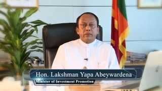 Message from Hon Lakshman Yapa Abeywardena, Minister of Investment Promotion - Japanies