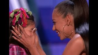 Adorable Little Girl Gets a Kiss From MEL B :)