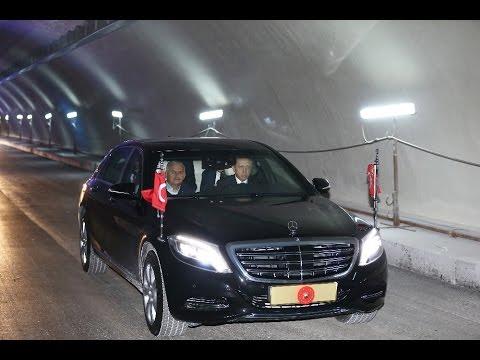 Erdoğan: Kendi Kullandığı Otomobille Avrasya Tüneli'nden Geçti