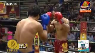 Khmer Boxing ផល សោភ័ណ្ឌ  Vs DaenPhichit(Thai) Kun khmer Bayon Boxing