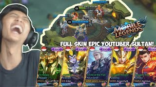 LOL COMEBACK! Full SKIN EPIC GEGEH W/ Isan Karis, Dyland PROS, Kibo - Mobile Legend