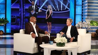 Steve Harvey Dishes on the Kardashian/West 'Family Feud' Episode