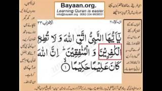 Quran translation in urdu Surah 33 Ayat 01 Learn Quran translation in Urdu Easy Quran Learning