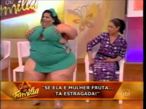 Mulher Fruta Pão no palco do programa Casos de Família 09 09 2011