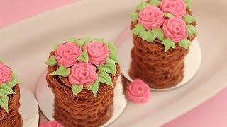 Mini Flower Pot Cake tutorial