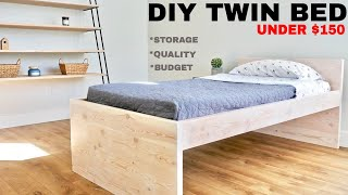 Twin Low Loft Bed   How to Make
