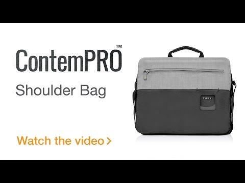EVERKI ContemPRO Laptop Shoulder Bag, up to 14.1-Inch/MacBook Pro 15 - Black (EKS661/EKS661N)