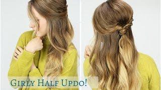 Sweater Weather Half Updo! | Start to Finish Hair Tutorial!