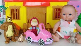 마샤와 곰 하우스와 아기인형 뽀로로 장난감놀이 - 토이몽 masha and Bear House baby doll car toys play