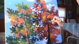 Come Dipingere Alberi Di Pioppo Vernice Acrilica Video ad Alta Velocità