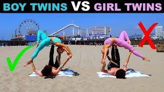 TWiN BOYS vs TWiN GiRLS Extreme YOGA CHALLENGE