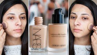 Nars Sheer Glow vs Giorgio Armani Luminous Silk: Battle of Foundations   Ysis Lorenna