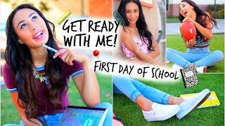 Get Ready With Me! First Day Of School Hair Makeup + 3 Denim Outfits