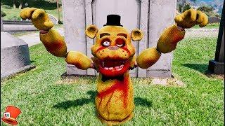 NEW ZOMBIE FREDDY ANIMATRONIC! (GTA 5 Mods For Kids FNAF RedHatter)