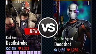 Injustice!! 2.11 Suicide Squad Deadshot Vs DeathStroke epic Fight /special moves/iOS/android