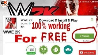 How to download  wwe 2k for free, 100% working