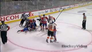 Tomas Plekanec goes crazy on the faceoff vs Danny Briere . Apr 15, 2013
