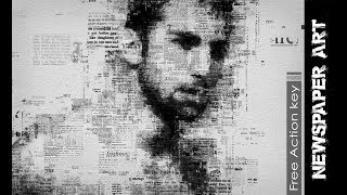 Newspaper Art Photoshop Effect Full Tutorial (download action free)