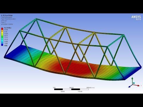 Xxx Mp4 ANSYS 17 0 Tutorial 3D Bridge Truss With Surface Body Platform 3gp Sex