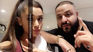 Ariana Grande & DJ Khaled work out in the gym (05/15/16)