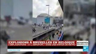 Attentats à Bruxelles : retour en images sur les explosions à l