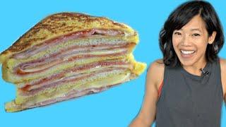 MONTE CRISTO - ham & cheese FRENCH TOAST sandwich | How to Make STRAWBERRY FREEZER JAM