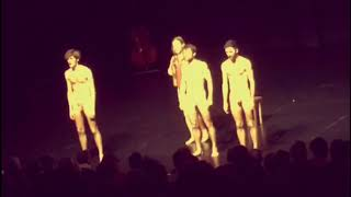 Male artists performing naked