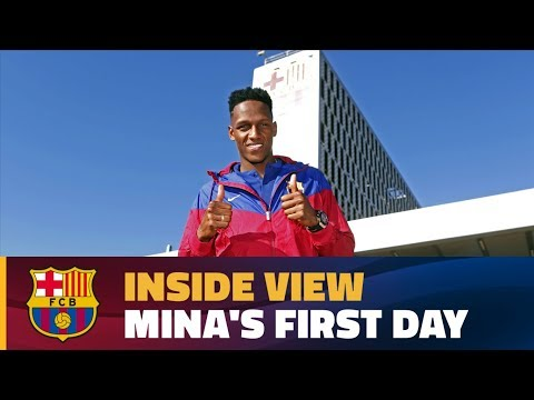 Xxx Mp4 BEHIND THE SCENES Yerry Mina S First Day At Barça 3gp Sex
