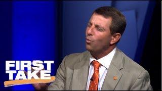 Clemson Coach Dabo Swinney Impersonates Stephen A. Smith | First Take | ESPN